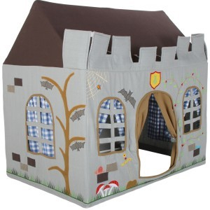 Knight Castle Playhouse (groot) + Floor Quilt (Win Green)