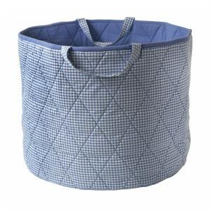 Gingham Toy Basket (Blauw) - Kiddiewinkles (BLUEGTB)