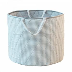 Gingham Toy Basket (Grijs) - Kiddiewinkles (GREYGTB)