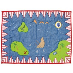 De piraat speeltent Floor Quilt (klein) - Win Green (PPFQK)