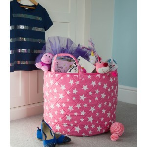 Star Toy Basket (Roze) - Kiddiewinkles (PINKSTB)