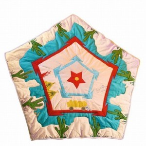 Wigwam Cowboy Floor Quilt - Win Green (11111)